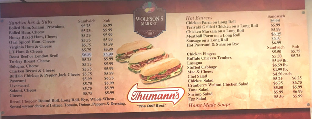 Wolfsons Sub Menu