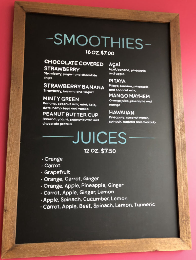 Smoothy Menu